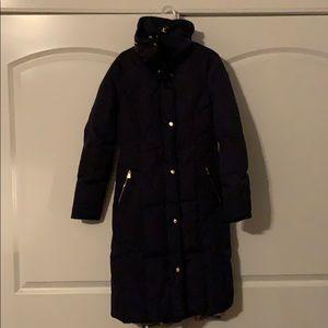 Cole Haag navy coat